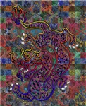 China Dragon Abstract Quilt