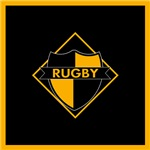 Rugby Shield Black Gold