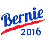 Bernie 2016 in Red, White and Blue