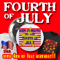 4th of July Independence Day & BORN ON 4th OF JULY