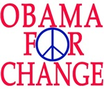 Obama for Change with Peace Sign