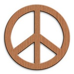 Wood Look Texture Peace Sign