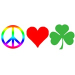 Peace Love Shamrock St. Patrick's Day T-shirts