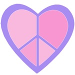 Pink and Purple Peace Heart Tshirts