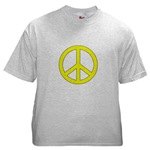 Yellow Peace Symbol
