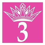 Pink Princess Number Tiles with Crown