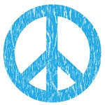Retro Distressed Peace Sign