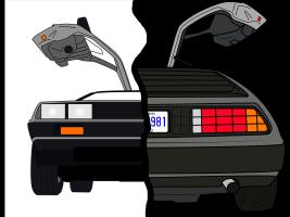 DeLorean front and back