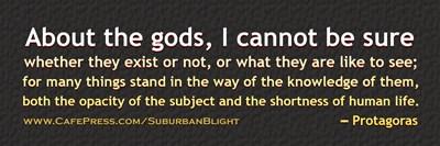 Protagoras About the Gods