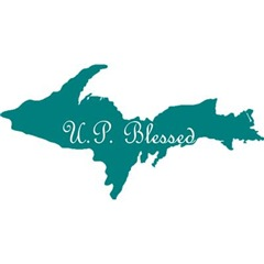 U.P. Blessed on Teal U.P.