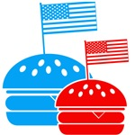 American Flag Burger