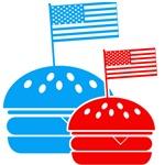 American Flag Burger