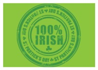 St Patrick's Day 100% Irish Stamp