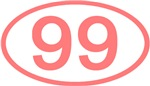 Number Ovals - 50 to 99 (Pink)