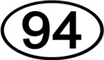 Number 94 Oval (Black)