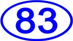 Number 83 Oval (Blue)