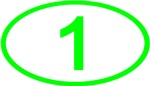 Number 1 Oval (Green)