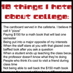 10 Things I Hate about College