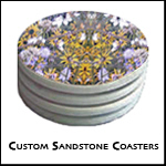 Made to order 4 inch sandstone coasters