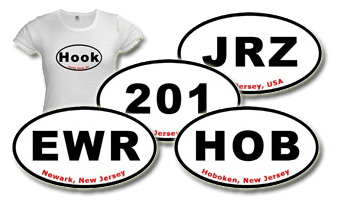 NJ Oval Stickers (Auto Vehicle Ovals)