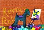 KERRY BLUE TERRIER GRAFFITI ARTIST