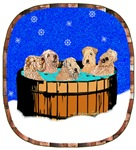 WHEATEN TERRIER: WHEATEN TERRIERS IN HOT TUB