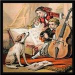 VINTAGE DOG ART: MUSIC COVER