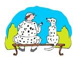 Painter with Dalmatian Dog