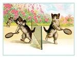 VINTAGE CAT ART: BADMINTEN KITTENS