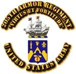 COA - 205th Armor Regiment