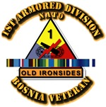 Army - Bosnia - 1st Armored Div w Svc Ribbons