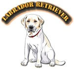 Labrador Retriever with Text