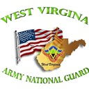 WEST VIRGINIA ARNG with Flag