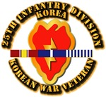 Army - 25th ID w Korean War SVC Ribbons