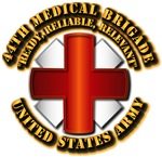 Army - DUI - 44th Medical Bde w Motto