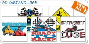 Go Kart and Luge T-shirts and Gifts