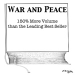 War and Peace, 150% More Volume