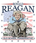 Ronald Reagan on GOP Elephant