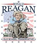 Ronald Reagan on GOP Elephant