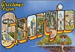Georgia Vintage Postcard