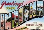 Indiana Vintage Postcard