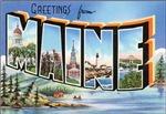 Maine Vintage Postcard
