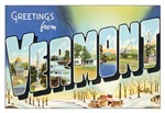 Vermont Vintage Postcard