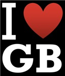 I Love GB Dark Tee