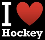 I Love Hockey Dark Tee