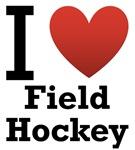 I Love Field Hockey Light Tee