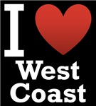 I Love West Coast Dark Tee