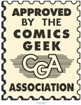 The seal of approval from official comic geekdom!  Wear it with pride to the comic shop or conventions!