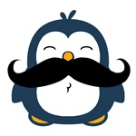 Mustache Penguin Trend T Shirts Tees Prints Cards, Trays, Buttons, Stickers, Magnets, and more!
