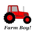 Farm Boy Red Tractor